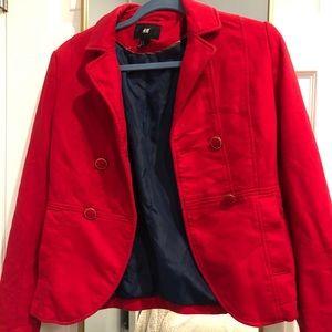 Red blazer/cropped jacket